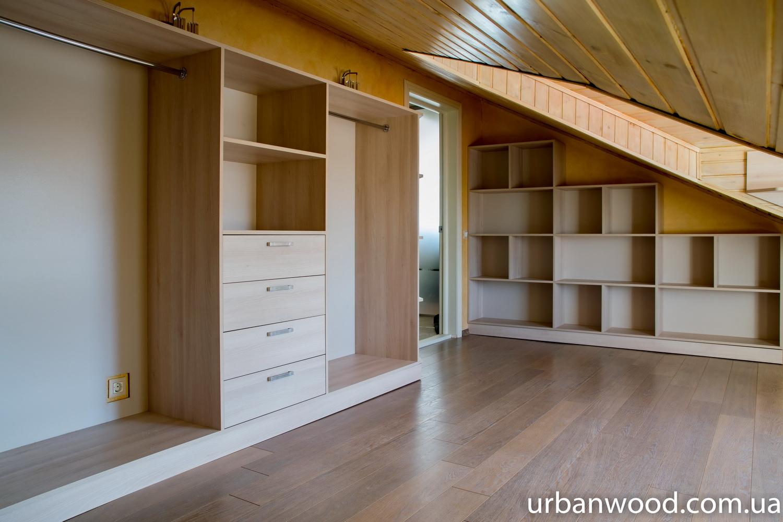Шкафы своими руками на мансарде фото отделка